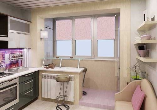 Перенос кухни в комнату и подключение сололифта